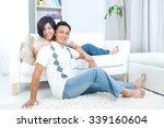 indoor portrait of asian couple   Shutterstock . vector #339160604