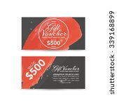 gift voucher template   Shutterstock .eps vector #339168899