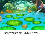 illustration  the sleeping pond ...   Shutterstock . vector #339172910