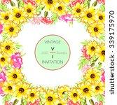 vintage delicate invitation... | Shutterstock .eps vector #339175970