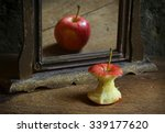 apple reflecting in the mirror   Shutterstock . vector #339177620