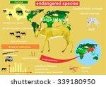saiga central asian wild... | Shutterstock .eps vector #339180950