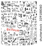 hand drawn seamless doodle... | Shutterstock .eps vector #339188060