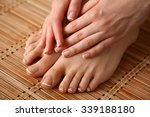 care for beautiful woman legs... | Shutterstock . vector #339188180