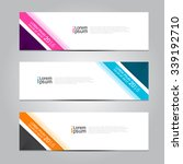 vector design banner... | Shutterstock .eps vector #339192710