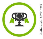 award cup vector icon. style is ... | Shutterstock .eps vector #339215939