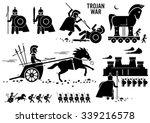 trojan war horse greek rome...
