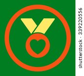 charity medal vector icon.... | Shutterstock .eps vector #339220556