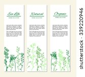 vertical banners with flowers...   Shutterstock .eps vector #339220946