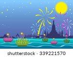loy krathong festival in chiang ... | Shutterstock .eps vector #339221570