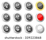 3d icons emoticons on white... | Shutterstock .eps vector #339223868