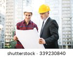 portrait of engineer and...   Shutterstock . vector #339230840
