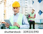 portrait of contractor and... | Shutterstock . vector #339231590