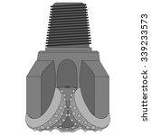 tungsten carbide insert bit ... | Shutterstock .eps vector #339233573