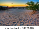 Scenic Sunset In The Dunes Of...