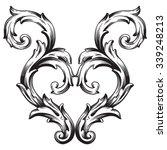 vintage baroque frame scroll... | Shutterstock .eps vector #339248213