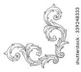 vintage baroque frame scroll... | Shutterstock .eps vector #339248333