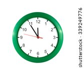 Round Wall Clock  In Green Case ...