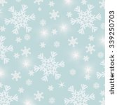 blue christmas background with... | Shutterstock . vector #339250703