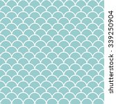 teal and white scales pattern... | Shutterstock .eps vector #339250904