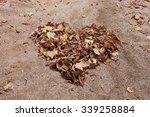 an autumn heart made of tree... | Shutterstock . vector #339258884