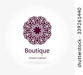 beautiful circular logos. logo... | Shutterstock .eps vector #339261440
