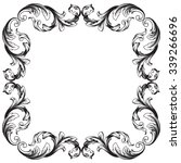 vintage baroque frame scroll... | Shutterstock .eps vector #339266696