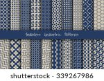 seamless geometric patterns set.... | Shutterstock .eps vector #339267986