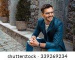 portrait of stylish handsome... | Shutterstock . vector #339269234