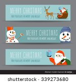 collection of three horizontal... | Shutterstock .eps vector #339273680