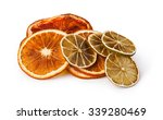 Dried Citrus Fruit Isolated On...