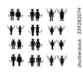 silhouette people icons... | Shutterstock .eps vector #339282074