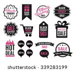 black friday icons and labels... | Shutterstock .eps vector #339283199