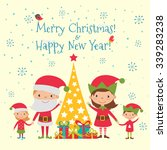 merry christmas and happy new... | Shutterstock .eps vector #339283238