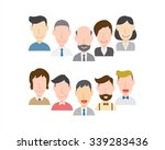 group of business people with... | Shutterstock .eps vector #339283436
