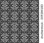 seamless black and white ... | Shutterstock .eps vector #339284183