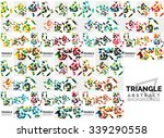 abstract geometric background.... | Shutterstock .eps vector #339290558