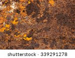 detail of old rust textured and ... | Shutterstock . vector #339291278