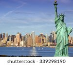 new york city cityscape skyline ... | Shutterstock . vector #339298190