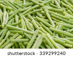 Close Up Of Cut String Beans