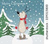 Cartoon Reindeer In The Deep...