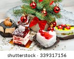 christmas delicious cakes on... | Shutterstock . vector #339317156