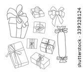hand drawing vector set with... | Shutterstock .eps vector #339328124