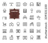 outline web icon collection  ... | Shutterstock .eps vector #339331100