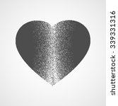 broken heart with stippling... | Shutterstock .eps vector #339331316