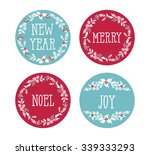 set of winter christmas icons ... | Shutterstock .eps vector #339333293