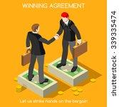 sales lead business handshake... | Shutterstock .eps vector #339335474