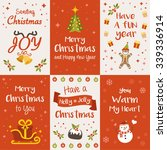 christmas greeting cards ... | Shutterstock .eps vector #339336914