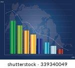 stock market graphs | Shutterstock .eps vector #339340049