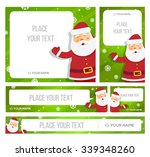 Santa Claus Hold Banner With...